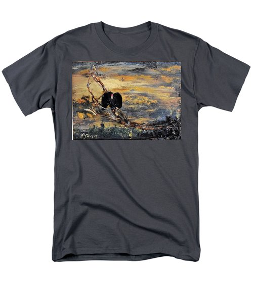 Vulture With Oncoming Storm Men's T-Shirt  (Regular Fit)