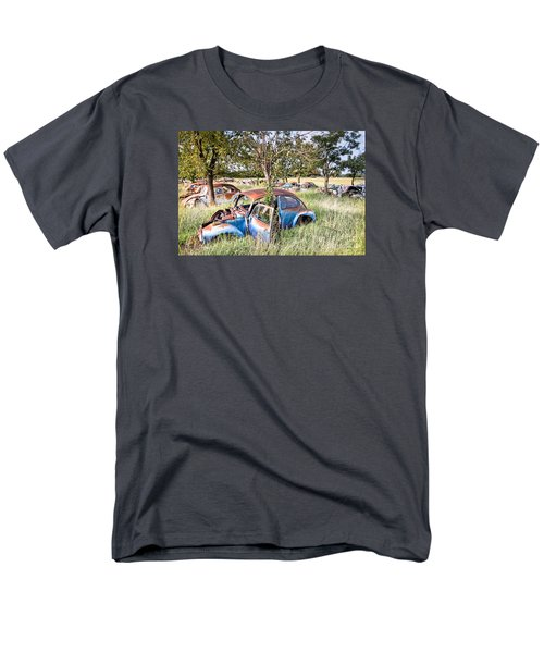 Men's T-Shirt  (Regular Fit) featuring the photograph Vw Graveyard by Lawrence Burry