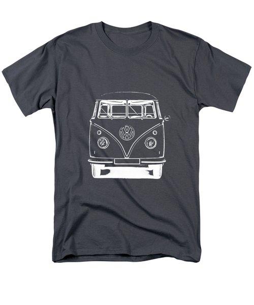 Vw Van Graphic Artwork Tee White Men's T-Shirt  (Regular Fit) by Edward Fielding