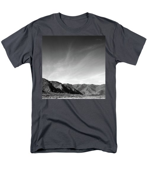 Men's T-Shirt  (Regular Fit) featuring the photograph Wainui Hills Squared In Black And White by Joseph Westrupp