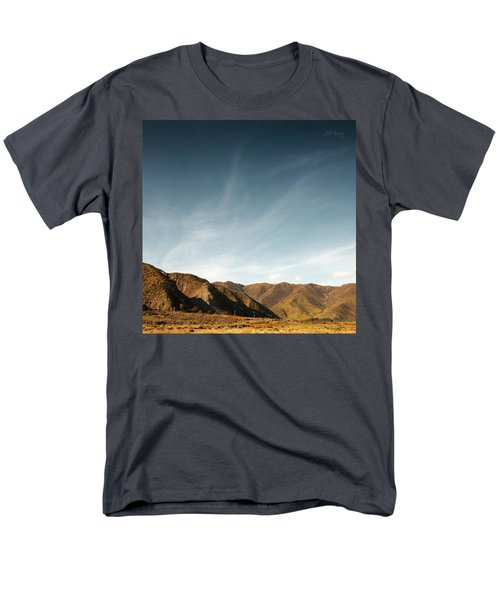 Men's T-Shirt  (Regular Fit) featuring the photograph Wainui Hills Squared by Joseph Westrupp