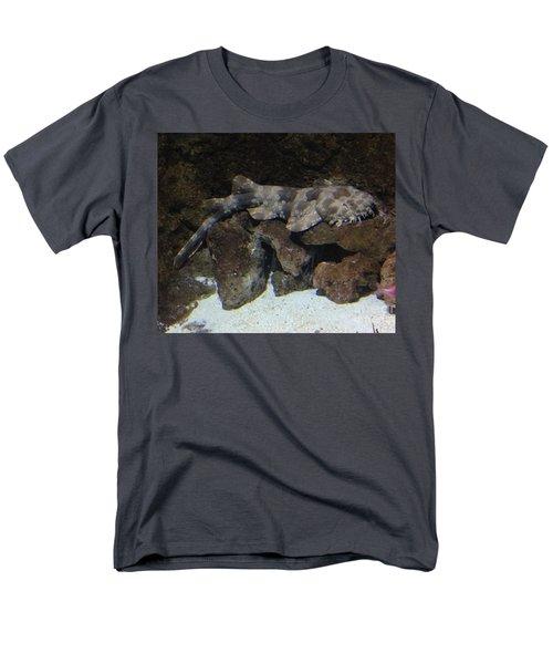 Waiting To Eat You - Spotted Wobbegong Shark Men's T-Shirt  (Regular Fit) by Richard W Linford