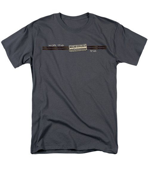 Men's T-Shirt  (Regular Fit) featuring the photograph Walk The Line Light Lettering by Heather Applegate