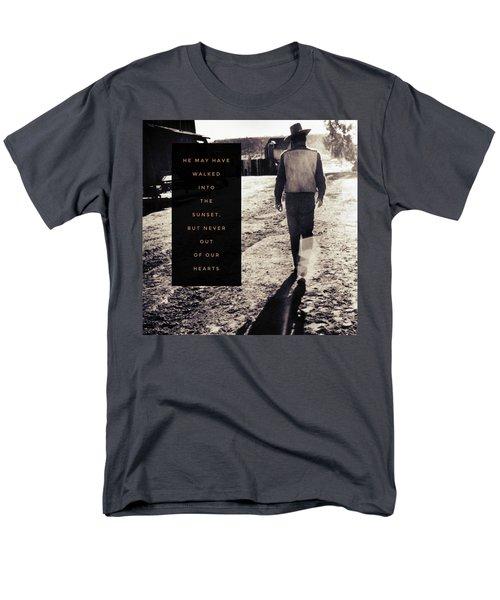 Walked Into The Sunset But Not Out Of Our Heart.  Men's T-Shirt  (Regular Fit) by Michele Carter