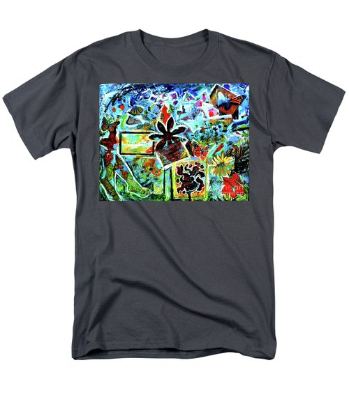 Men's T-Shirt  (Regular Fit) featuring the mixed media Walking Amongst The Monarchs by Genevieve Esson