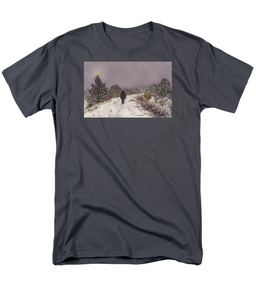 Men's T-Shirt  (Regular Fit) featuring the painting Walking Into The Light by Anne Gifford