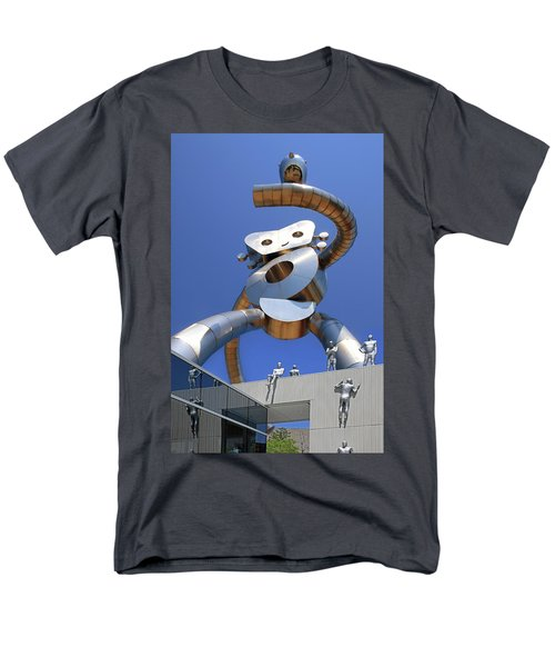 Men's T-Shirt  (Regular Fit) featuring the photograph Walking Tall Path by Christopher McKenzie