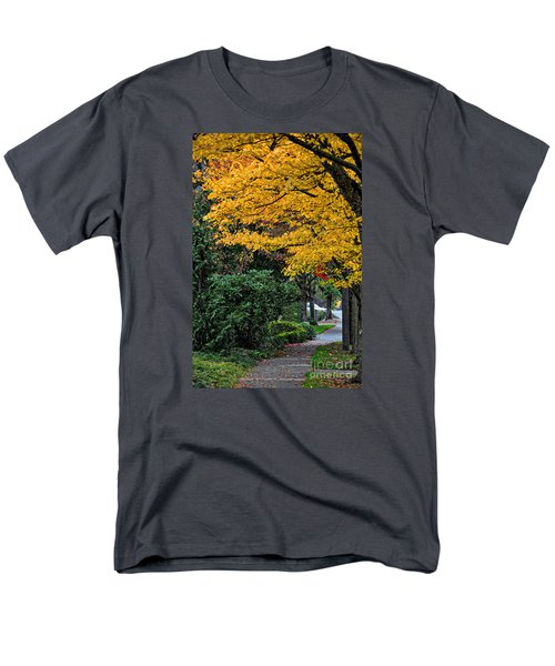 Men's T-Shirt  (Regular Fit) featuring the photograph Walkway Under A Canopy Of Yellow by Kirt Tisdale