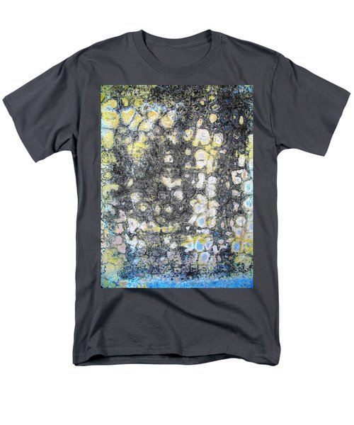 Wall Abstract 162 Men's T-Shirt  (Regular Fit) by Maria Huntley