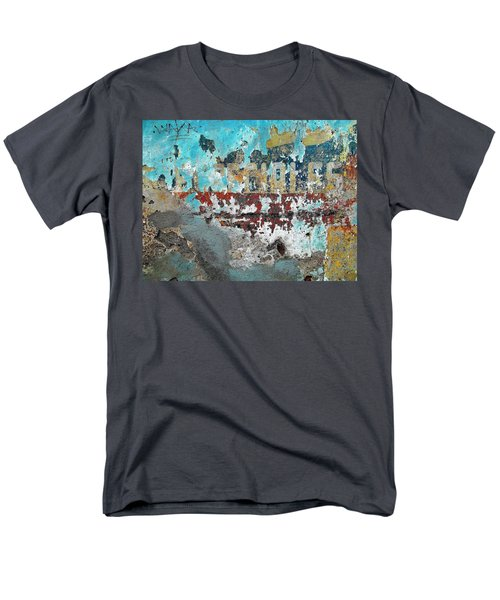 Wall Abstract 98 Men's T-Shirt  (Regular Fit) by Maria Huntley