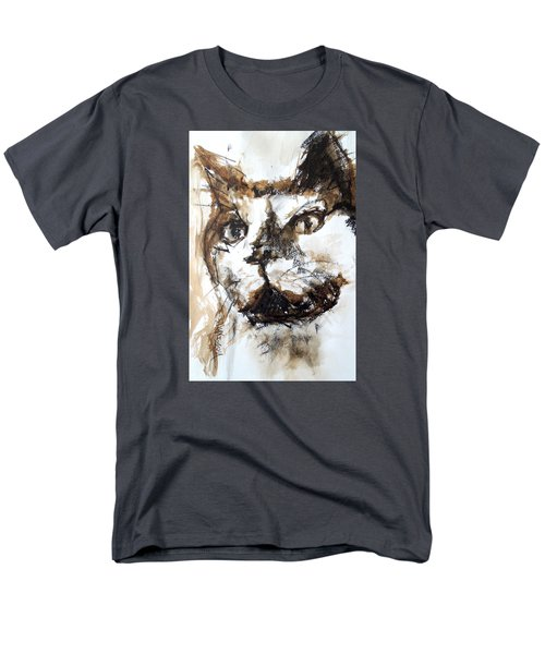 Men's T-Shirt  (Regular Fit) featuring the mixed media Walnut And Charcoal by Mary Schiros