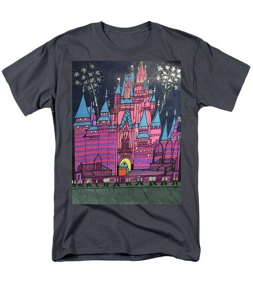 Walt Disney World Cinderrela Castle Men's T-Shirt  (Regular Fit) by Jonathon Hansen