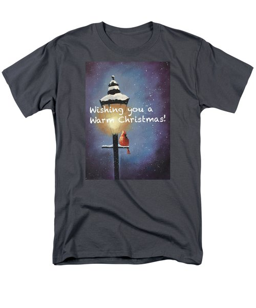 Warm Christmas Men's T-Shirt  (Regular Fit) by Sharon Mick