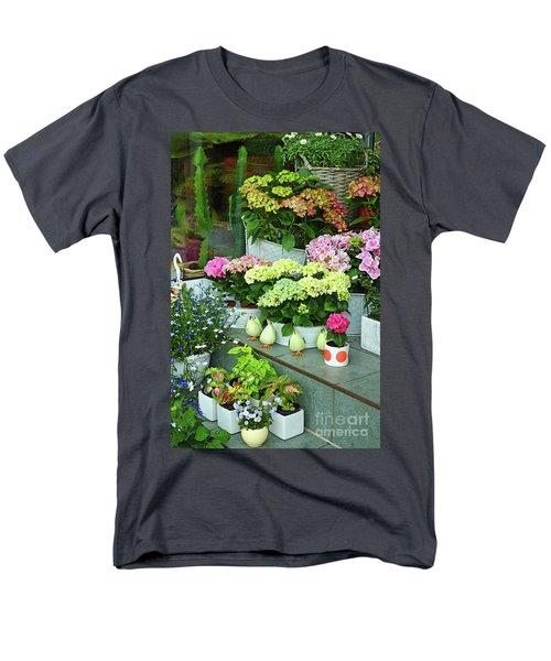 Warnemunde Flower Shop Men's T-Shirt  (Regular Fit) by Eva Kaufman