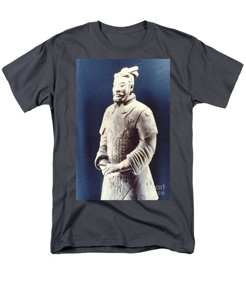 Men's T-Shirt  (Regular Fit) featuring the photograph Warrior Of The Terracotta Army by Heiko Koehrer-Wagner