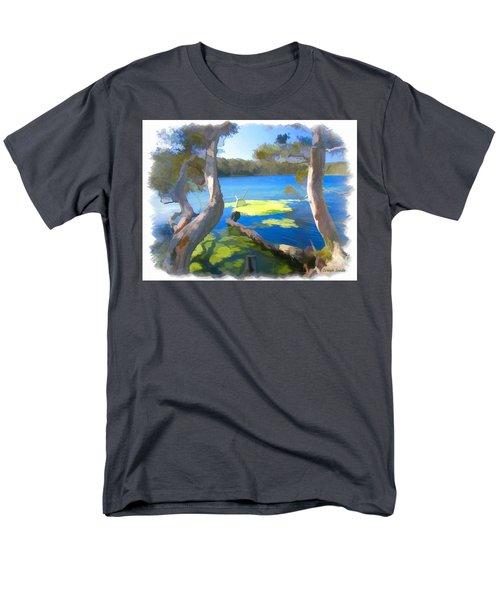 Wat-0002 Avoca Estuary Men's T-Shirt  (Regular Fit) by Digital Oil