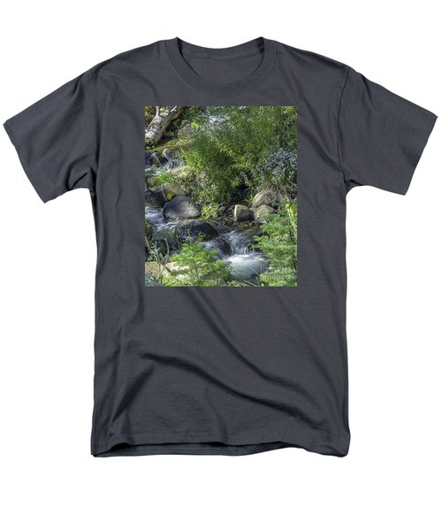 Water And Wildflowers Men's T-Shirt  (Regular Fit) by Nancy Marie Ricketts