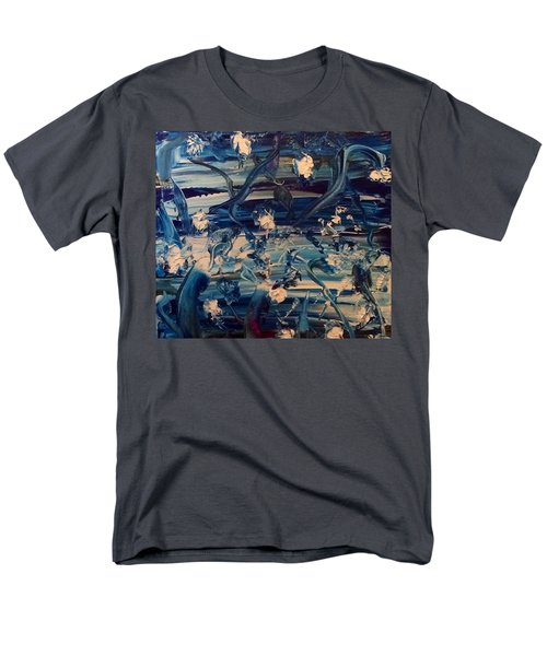 Men's T-Shirt  (Regular Fit) featuring the painting Water Garden Beyond Flight by Kicking Bear Productions