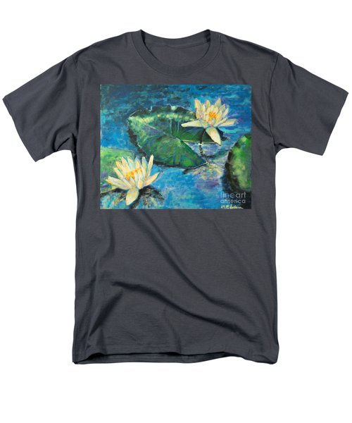 Men's T-Shirt  (Regular Fit) featuring the painting Water Lilies by Ana Maria Edulescu