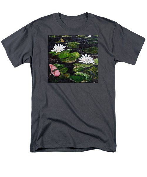 Men's T-Shirt  (Regular Fit) featuring the painting Water Lilies I by Marilyn Zalatan