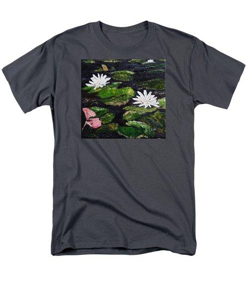 Water Lilies I Men's T-Shirt  (Regular Fit) by Marilyn Zalatan