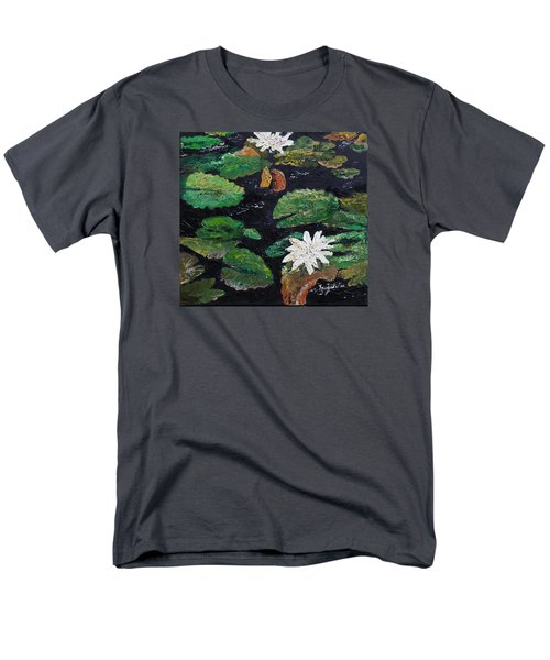 Men's T-Shirt  (Regular Fit) featuring the painting water lilies II by Marilyn Zalatan
