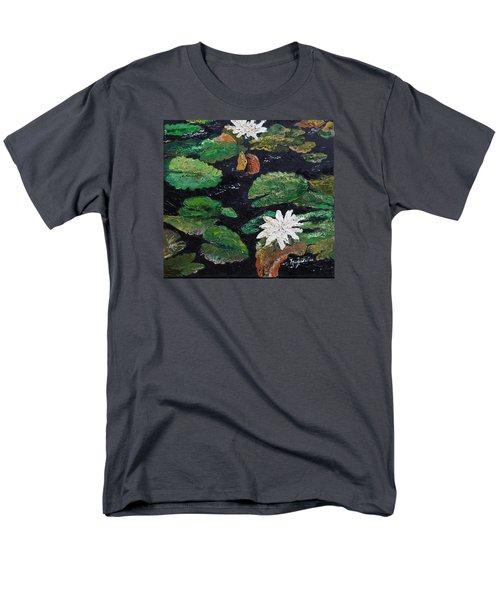 water lilies II Men's T-Shirt  (Regular Fit) by Marilyn Zalatan