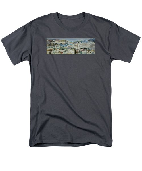 Water Pump In Winter - Sold Men's T-Shirt  (Regular Fit) by Judith Espinoza