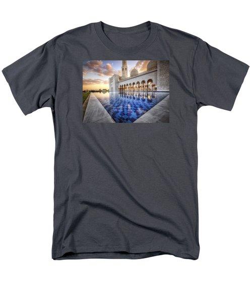Water Sunset Temple Men's T-Shirt  (Regular Fit) by John Swartz