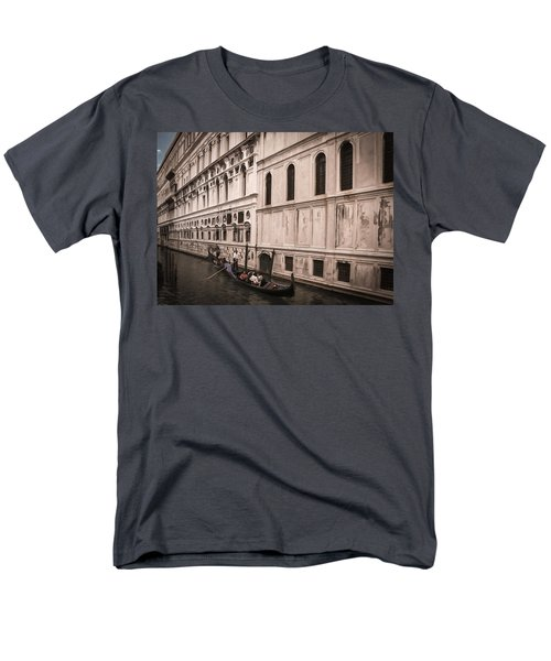 Water Taxi In Venice Men's T-Shirt  (Regular Fit) by Kathleen Scanlan