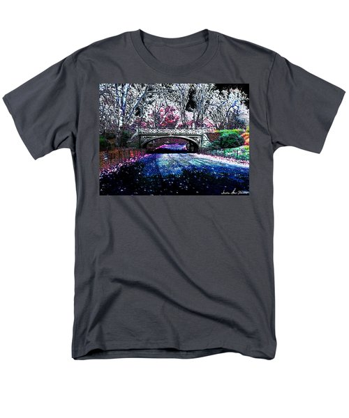 Men's T-Shirt  (Regular Fit) featuring the photograph Water Under The Bridge by Iowan Stone-Flowers