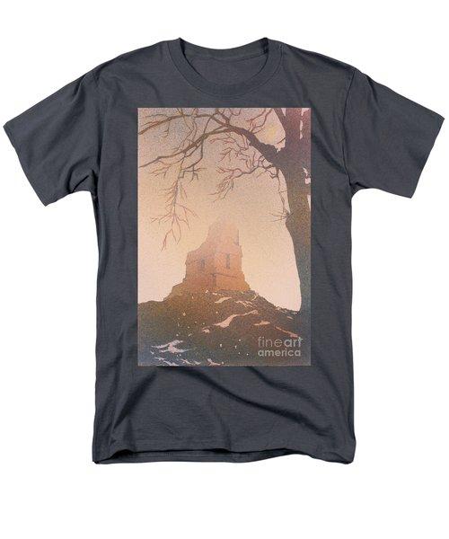 Watercolor Painting Of Mayan Temple- Tikal, Guatemala Men's T-Shirt  (Regular Fit) by Ryan Fox