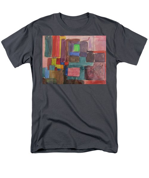 Watercolor Shapes Men's T-Shirt  (Regular Fit) by Barbara Yearty