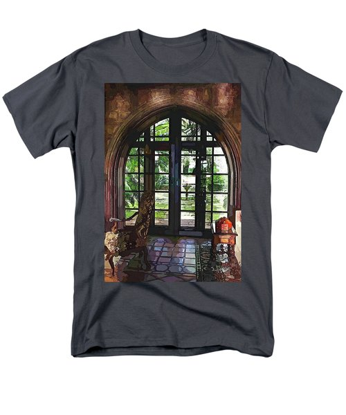 Watercolor View To The Past Men's T-Shirt  (Regular Fit) by Susan Molnar