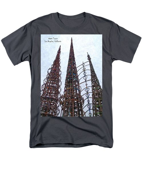 Men's T-Shirt  (Regular Fit) featuring the photograph Watts Towers 2 - Los Angeles by Glenn McCarthy Art and Photography