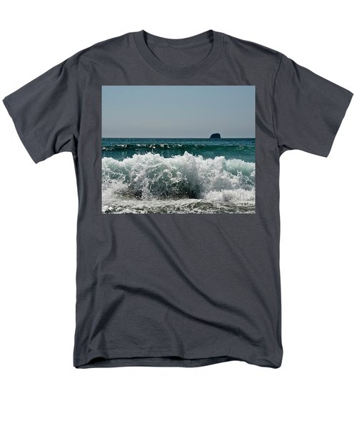 Waves Of Pacific Ocean. Coromandel,new Zealand Men's T-Shirt  (Regular Fit) by Yurix Sardinelly