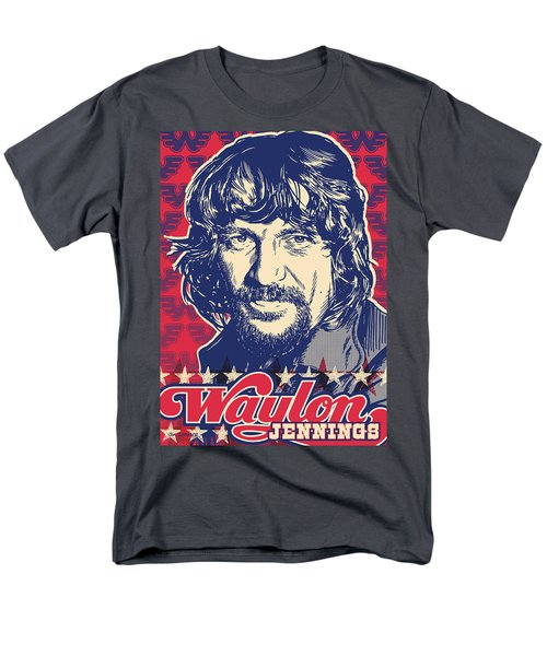 Waylon Jennings Pop Art Men's T-Shirt  (Regular Fit) by Jim Zahniser