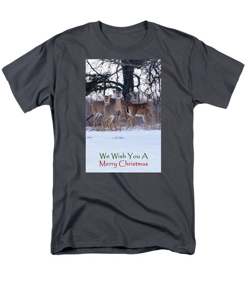 We Wish You A Merry Christmas Men's T-Shirt  (Regular Fit) by Gary Hall