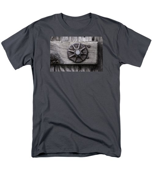 Men's T-Shirt  (Regular Fit) featuring the photograph Weathered Wood And Metal One by Kandy Hurley