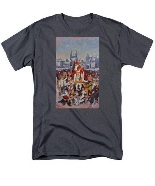 Welcoming Saint Nicolas In Maastricht Men's T-Shirt  (Regular Fit) by Nop Briex