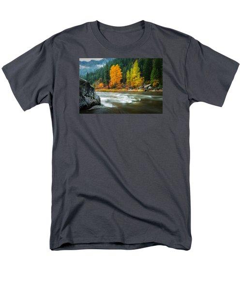 Men's T-Shirt  (Regular Fit) featuring the photograph Wenatchee Riverside by Dan Mihai