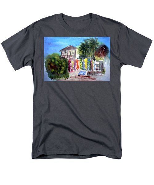 Men's T-Shirt  (Regular Fit) featuring the painting West End Market by Donna Walsh
