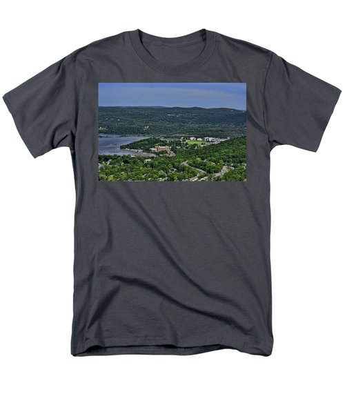 West Point From Storm King Overlook Men's T-Shirt  (Regular Fit) by Dan McManus