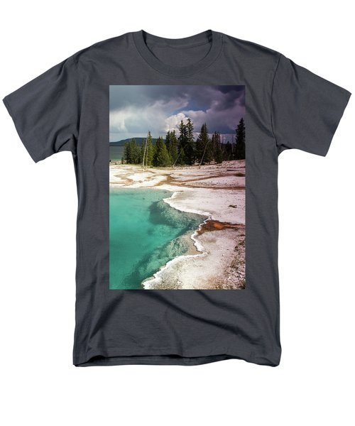 Men's T-Shirt  (Regular Fit) featuring the photograph West Thumb Geyser Pool by Dawn Romine