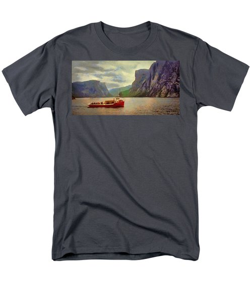 Men's T-Shirt  (Regular Fit) featuring the painting Western Brook Pond by Jeff Kolker