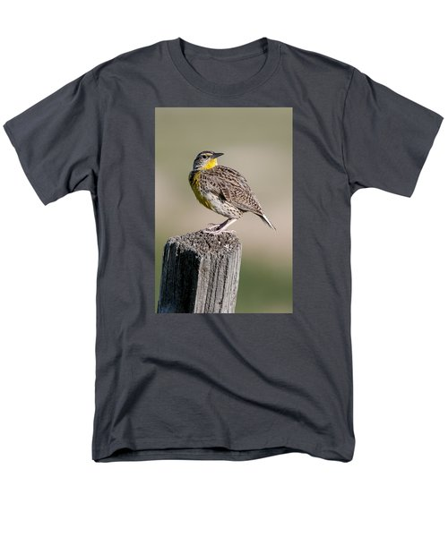 Men's T-Shirt  (Regular Fit) featuring the photograph Western Meadowlark by Gary Lengyel