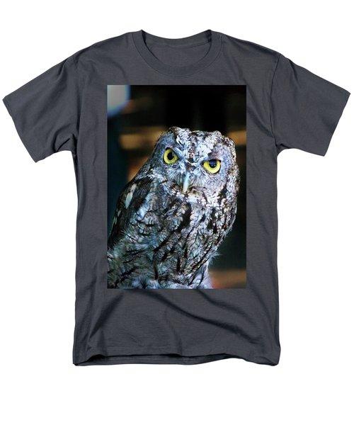 Men's T-Shirt  (Regular Fit) featuring the photograph Western Screech Owl by Anthony Jones