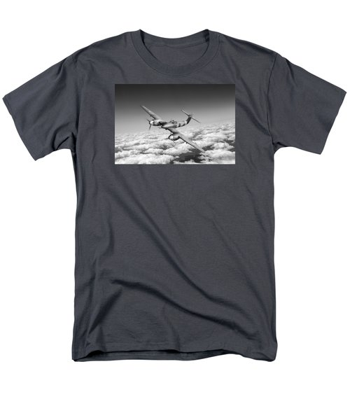 Men's T-Shirt  (Regular Fit) featuring the photograph Westland Whirlwind Portrait Black And White Version by Gary Eason