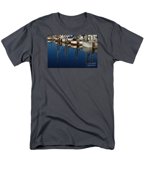 Westport Fishing Fleet II Men's T-Shirt  (Regular Fit) by Chuck Flewelling