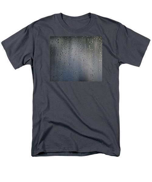Men's T-Shirt  (Regular Fit) featuring the photograph Wet Stainless Steel by Lyle Crump